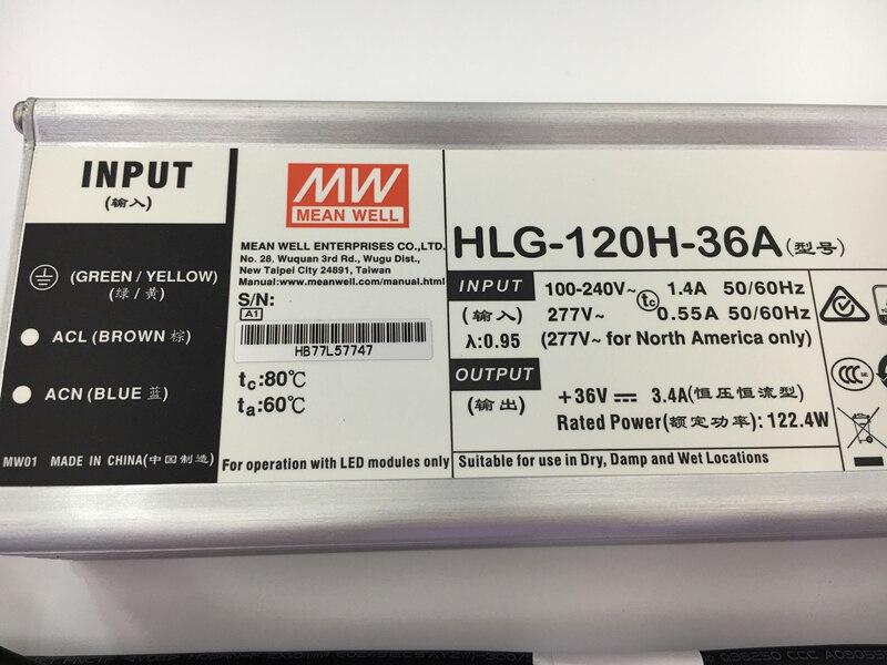 MEANWELL 100W120W LED Powersupply HLG LED driver output 30V36V42V48V warranty 7years led floodlight streetlight highbay driver Pakistan