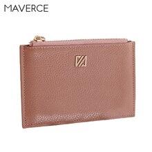 Купить с кэшбэком 4 Colors Fashion Zipper Genuine Leather Women Wallets Solid Women's Purse Short Design Ladies Wallet  Lightweight Card Holder