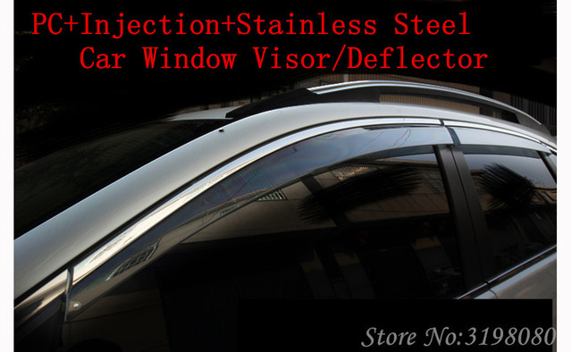 Car Deflector For TOYOTA INNOVA 2016 2017 Window Visor Door VisorPC+Stainless Steel & Car Deflector For TOYOTA INNOVA 2016 2017 Window Visor Door VisorPC ...