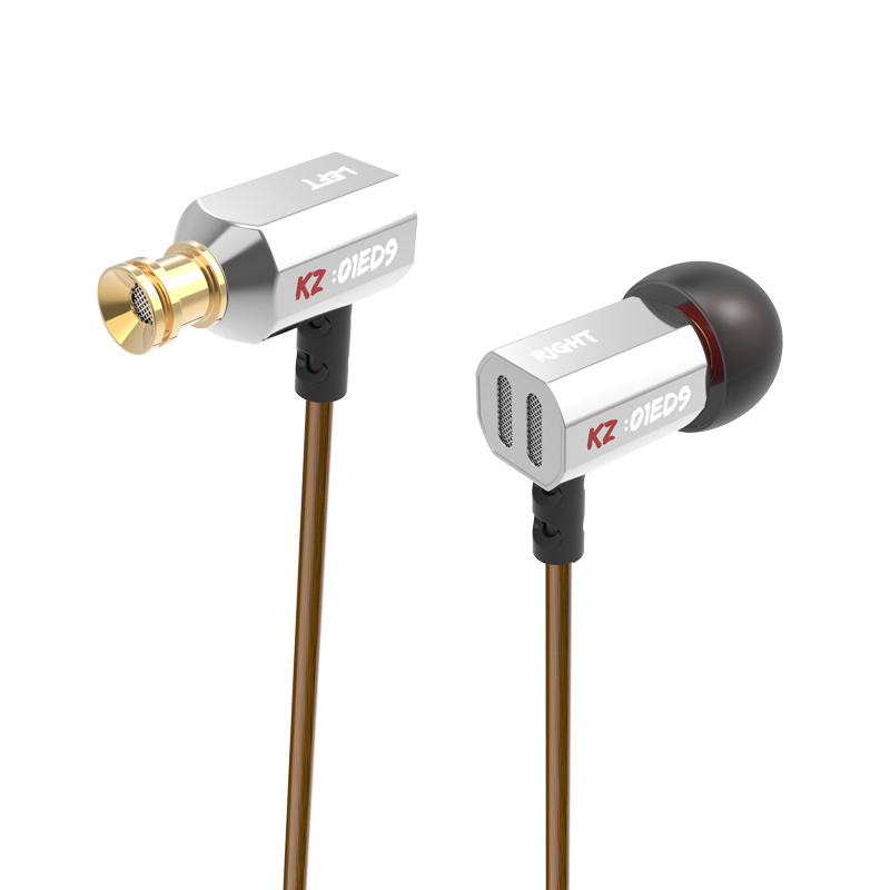 KZ ED9 In-ear Earphone Bass Earbuds Noise Canceling Earbuds Stereo Metal HiFi Headset Original KZ Earphones With Microphone new original kz ate in ear earphones hifi metal stereo earbuds super dj bass noise isolating headset 3 5mm drive unit earbuds