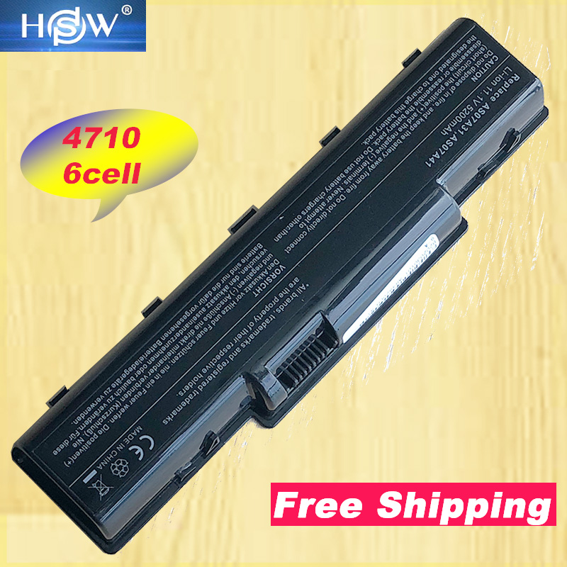 HSW 5200MAH Laptop Battery AK.006BT.020 AK.006BT.025 AS07A31 AS07A32 AS07A41 For <font><b>Acer</b></font> Aspire 4732Z <font><b>4736</b></font> 4740 image