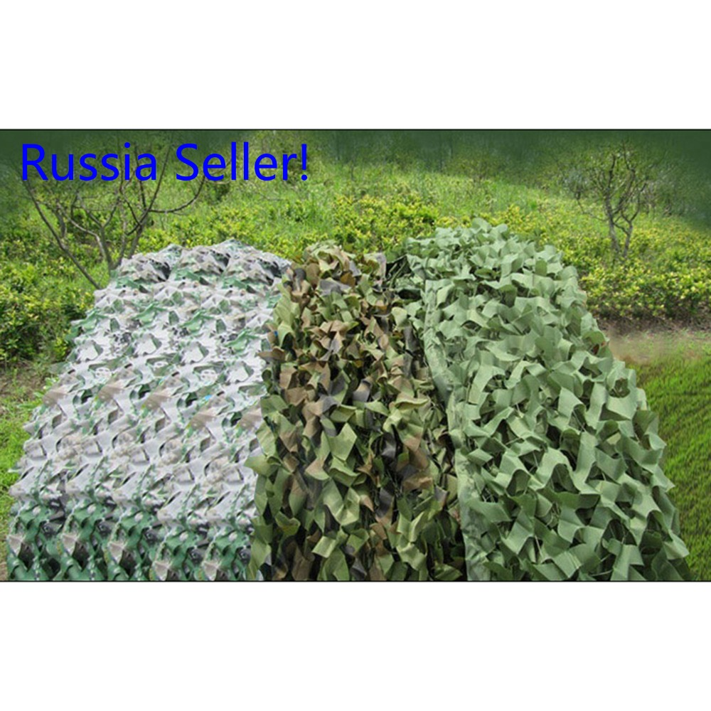 Russia seller Hunting Military Camouflage Net Woodland Army Camo 5 4m netting Camping Sun ShelterTent Shade