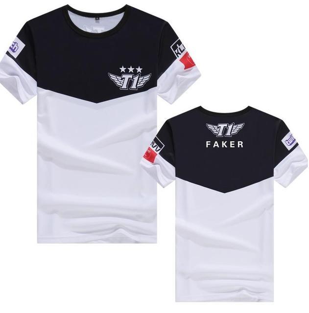 639311a43 SKT T1 T-shirt LCK Champions Team Jersey SKTT1 T-shirt Men Faker Bengi  Blank Quke Bang Wolf SKT1 Shirt Game Tees Shirt Polyester