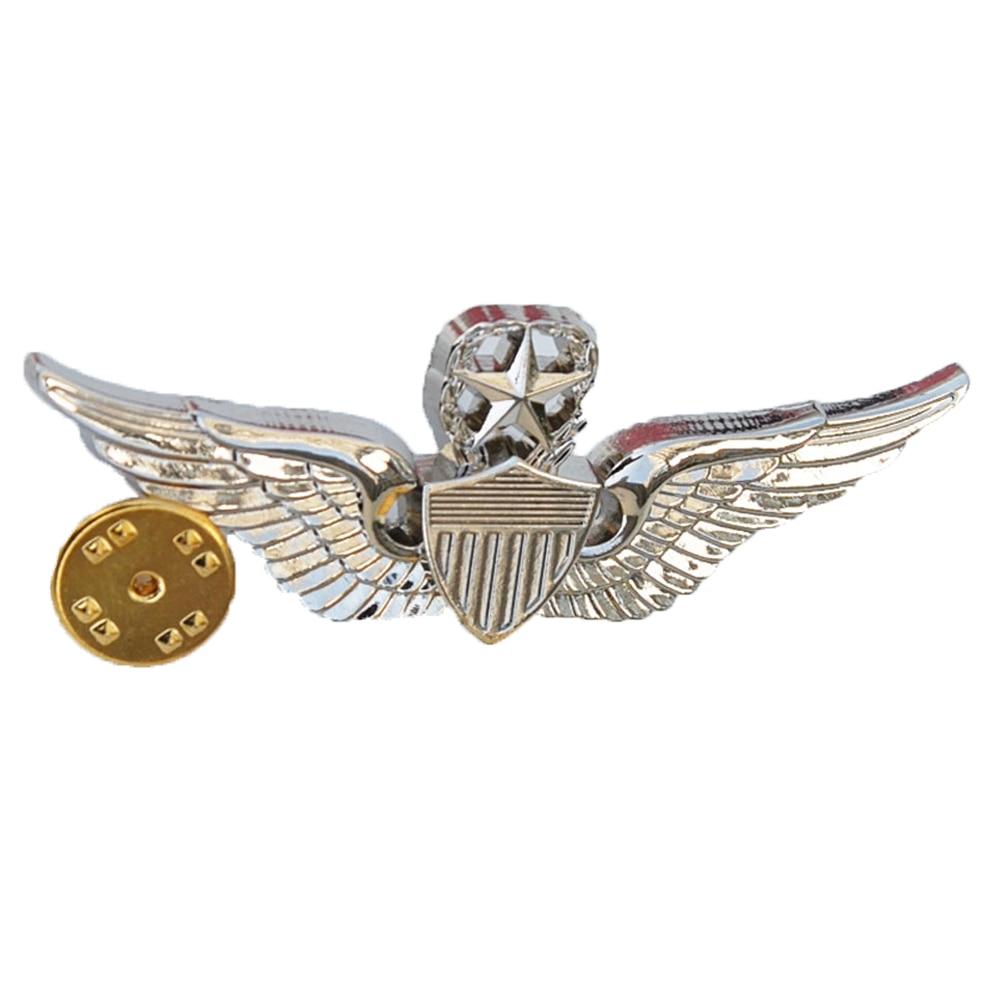 US ARMY WINGS MILITARY COMMAND PILOT METAL WINGS METAL BADGE PIN