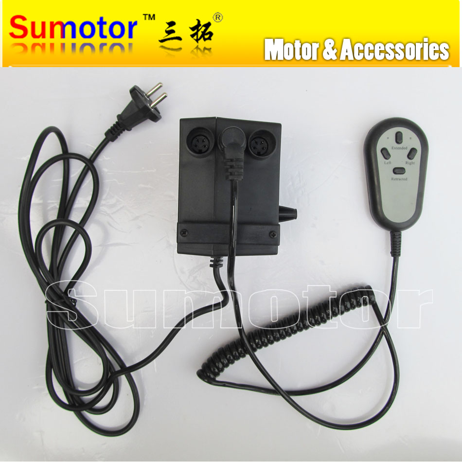 Input AC 100 220V For 2 Linear actuators DC 24V 5A power supply Manual switch controller Electric adapter care bed Asynchronous