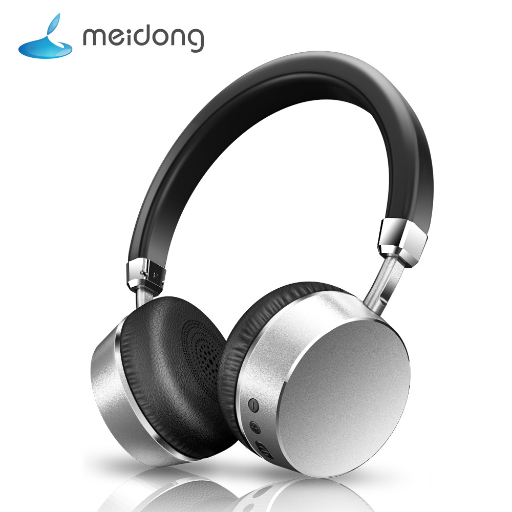 Meidong E6 Bluetooth headphone Wireless Headset Stereo Deep Bass Headphones with Microphone for phone PC metal Fashion rock y10 stereo headphone earphone microphone stereo bass wired headset for music computer game with mic