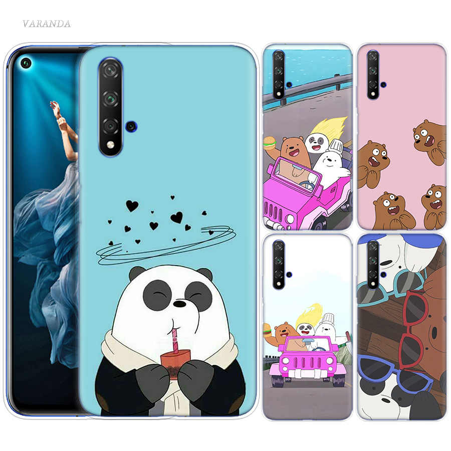 We Bare Bears Case for Huawei Honor 8X 8C 8 9 10 20 Play 8A lite Pro V20 Y9 Y7 Y6 Y5 Prime 2018 2019 Silicone Phone Bags Covers