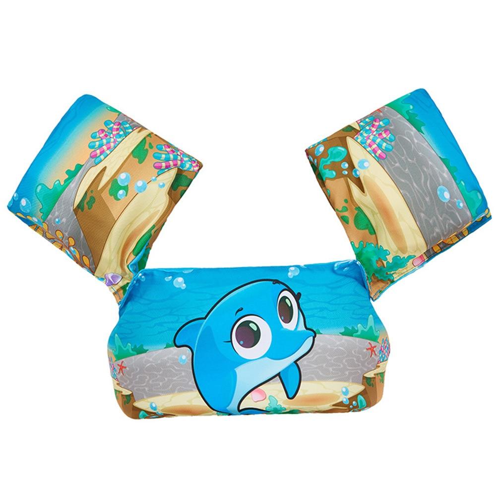 Двойные подушки безопасности надувные руки круги дети повязки картонные лампы в форме дельфинов Лебедь плавательный бассейн безопасный для воды Swimmingpoolforkid - Цвет: dolphin