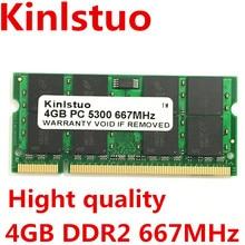 Marque New Sodimm DDR2 667 MHz PC5300 DDR2 4 GB pour Ordinateur Portable carte mère puces est GL40, GM45, GS45, PM45, PM65, PM945, 965 puces