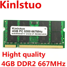 A Estrenar Sodimm DDR2 667 MHz PC5300 DDR2 4 GB de chips es GL40 placa madre Del Ordenador Portátil, GM45, GS45, PM45, PM65, PM945, 965 chips