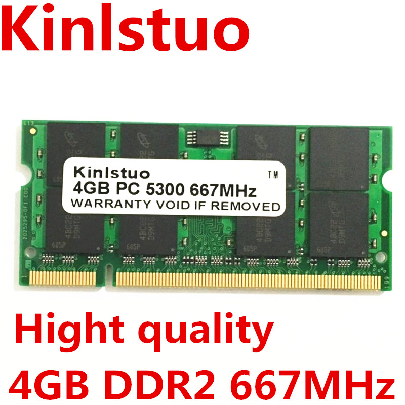 Prix pour Marque New Sodimm DDR2 667 MHz PC5300 DDR2 4 GB pour Ordinateur Portable carte mère puces est GL40, GM45, GS45, PM45, PM65, PM945, 965 puces