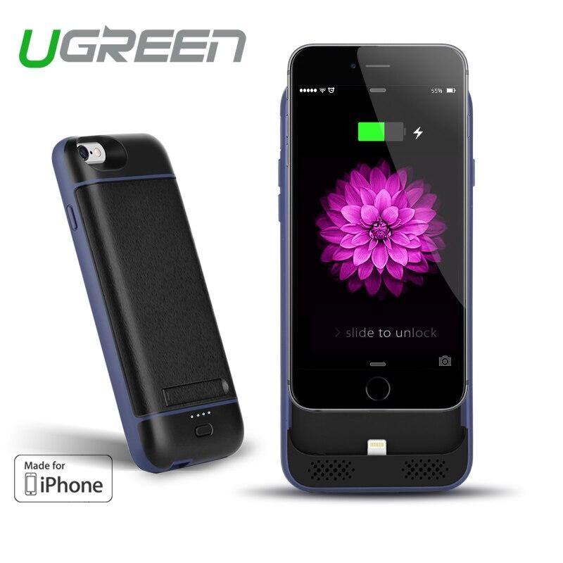imágenes para Ugreen Caso del cargador de Batería para el iphone 6 6 s 3100 mAh externa de energía del cargador de batería Del Teléfono móvil para el iphone 6 s banco