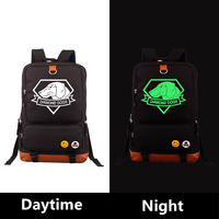 High Quality 2017 New Metal Gear Solid Diamond Dog Printing Canvas Backpack School Bags for Teenagers Laptop Military Backpack