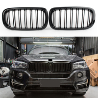 Auto Car Front Grilles for BMW F15/F16 X5 X6 2014 2015 2016 2017 2017 Gloss Black 51712334708(L) 51712334710(R) ABS Plastic