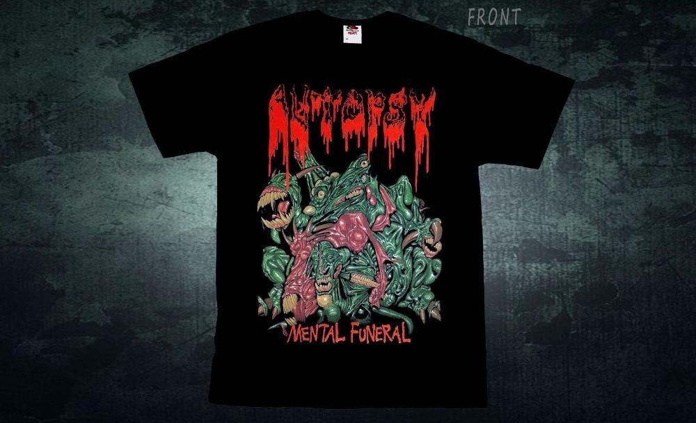 T Shirt Shop Crew Neck Autopsy Mental Funeral Death Metal Death Obituary T-Shirt Sizes S To 3XL Short Printing Shirt For Men
