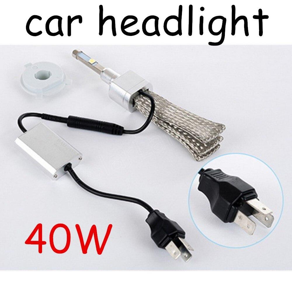 2X40W 4800LM H4 H7 LED Car Headlight Bulbs Chips LED Headlights Head Lamp Front Light 12V 24V new coming geely sc7 sl car front headlight head light transparent cover