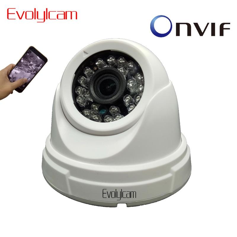 Evolylcam Dôme HD 720 P 960 P Audio Micro SD/TF fente pour carte IP caméra P2P Onvif Réseau Alarme IR Nuit Vision CAMÉRA de Surveillance CCTV