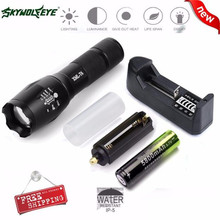 Bicycle Light With Battery Charger Cycling Bike Head Front Light X800 Tactical Flashlight LED Zoom Military