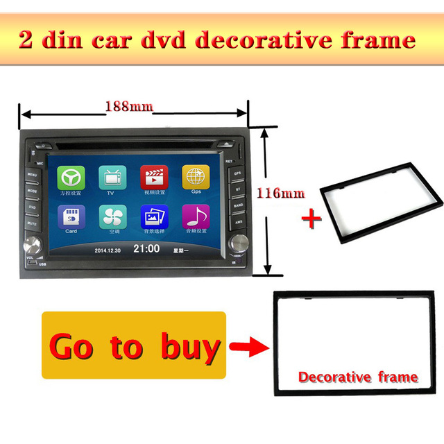 Auto radio 2 MARCO DIN coche DVD GPS marco decorativo para 2DIN ...