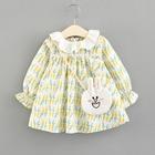 Spring Baby Girl Dress Cotton Long Sleeve Toddler Dress Ruffles Collar Kids Clothes