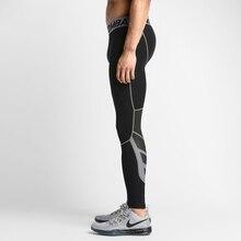 Homens Camada de Base de compressão calças justas Calças leggings collants de basquete execução roupas de fitness gym do esporte spandex preto plussize(China (Mainland))