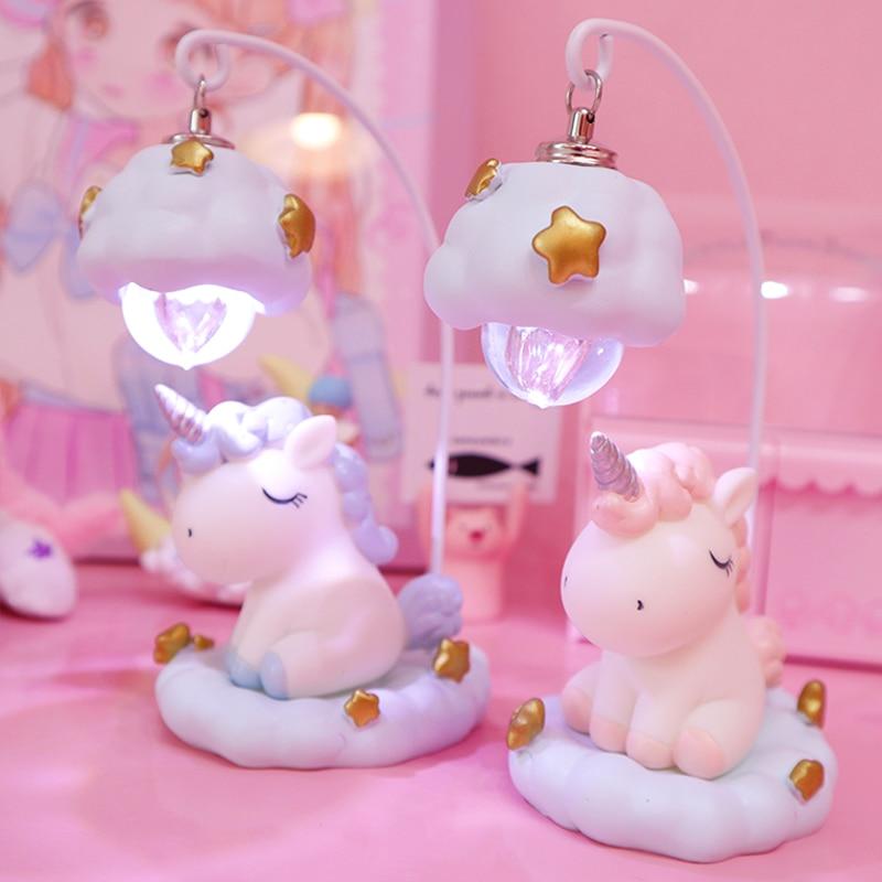 Unicorn Lamp LED Night Light Luminaria Baby Nursery Night Lamp Unicorn Toy Dolls For Baby Kids Gift Home Decoration