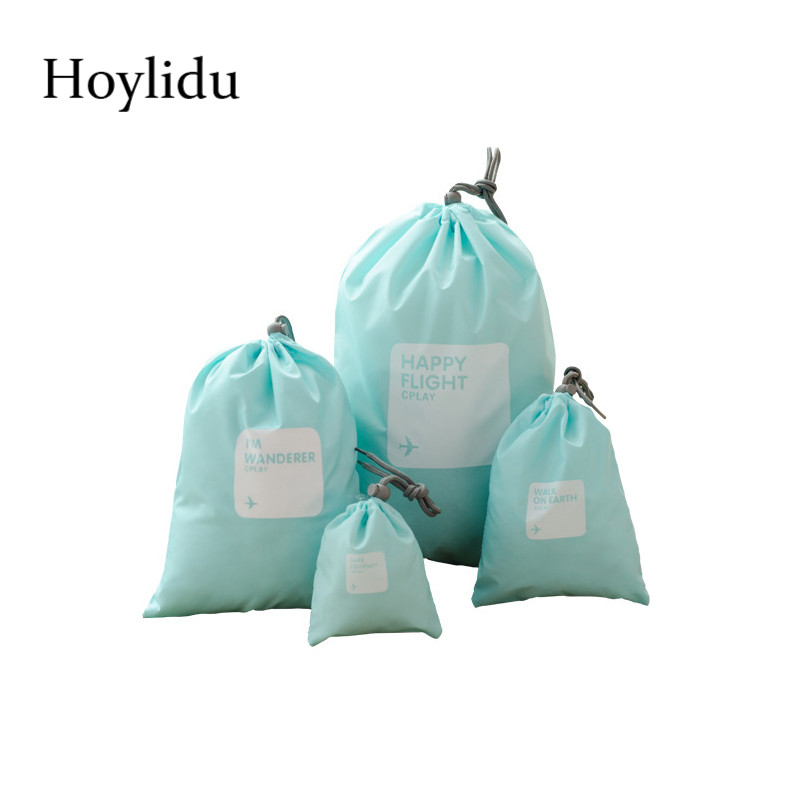 4pcs/set Travel Drawstring Bag Portable Underwear Pouch Kids Dolls Toys Storage Pouches Gift Bags Wholesale bolsas ...