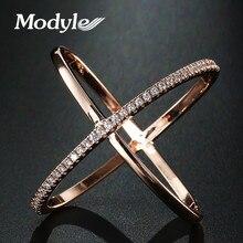 Mostyle, новинка, большой крест, циркониевое кольцо, модное женское ювелирное изделие, знак бесконечности, женские кольца из розового золота, вечерние