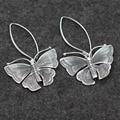 Серебро бабочка чиангмай 925 серебряные серьги преувеличены ретро леди для создания ручной серебряная оптовая продажа