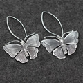 Silver Butterfly Chiang Mai 925 Sterling Silver Earrings exaggerated retro lady to create handmade silver wholesale