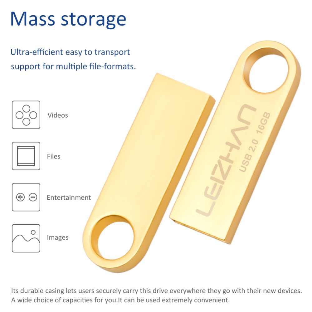 USB stick de Metal unidad Flash usb resistente al agua Unidad de salto USB 64 gb 32 gb 16 gb 8 gb 4 gb usb foto stick ordenador unidad tableta