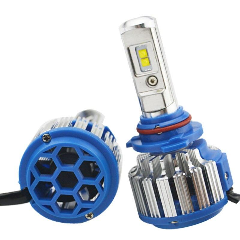 LED 9005 9006 h4 feux de croisement Auto avant ampoule Automobile phare kit blanc 6000 K ampoule Repalcement Bi xénon phare