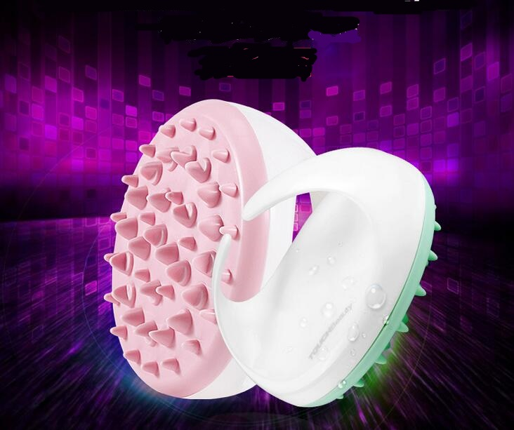 Pink Cellulite fully Body Massager brush Soft Silicon Glove Slimming Relaxing Scrub leg facail massage relax tool scrub slim electric body massager relax tone fat cellulite massager relaxation for slimming and relaxing with four heads