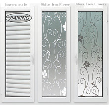 60cm wide static free plastic frosted translucent glass film Continental shower room window stickers opaque