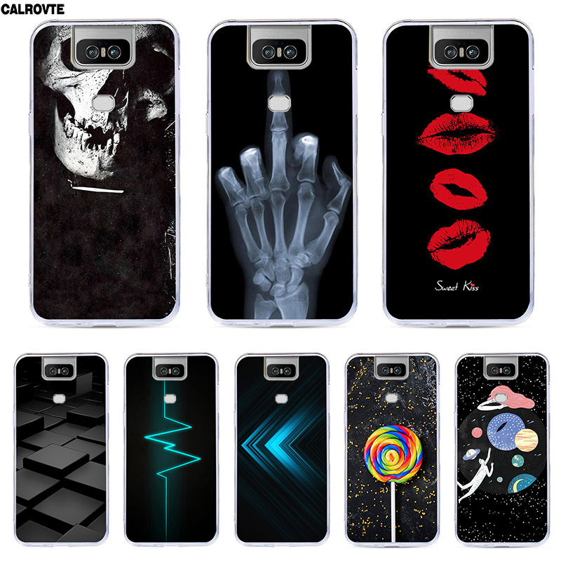 CALROVTE Phone Cover For <font><b>Asus</b></font> Zenfone6 <font><b>2019</b></font> Silicon Painting Soft Tpu <font><b>Case</b></font> for <font><b>Asus</b></font> <font><b>Zenfone</b></font> <font><b>6</b></font> ZS630KL ZS 630KL I01WD Back Bags image