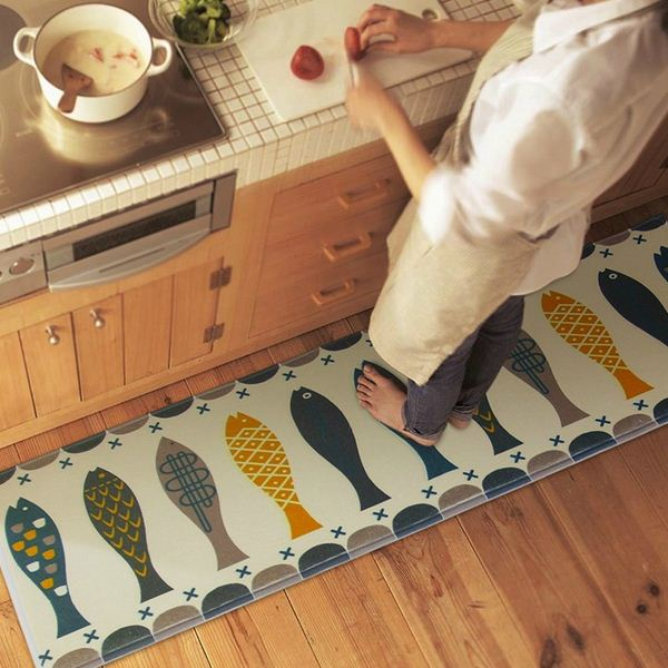 45x120cm Fish Door Mat Hall Bathroom KitchenHome Rug Absorbent Non slip Coral Velvet Mats Carpet Strips tapete-in Carpet from Home & Garden on ...