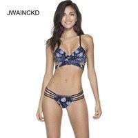 JWAINCKD Sexy Women Swimsuit 2 Piece Bikini Beach Wear Swimming Suit 2018 New Brazilian Push Up Bikinis Set Female Bandage Cross