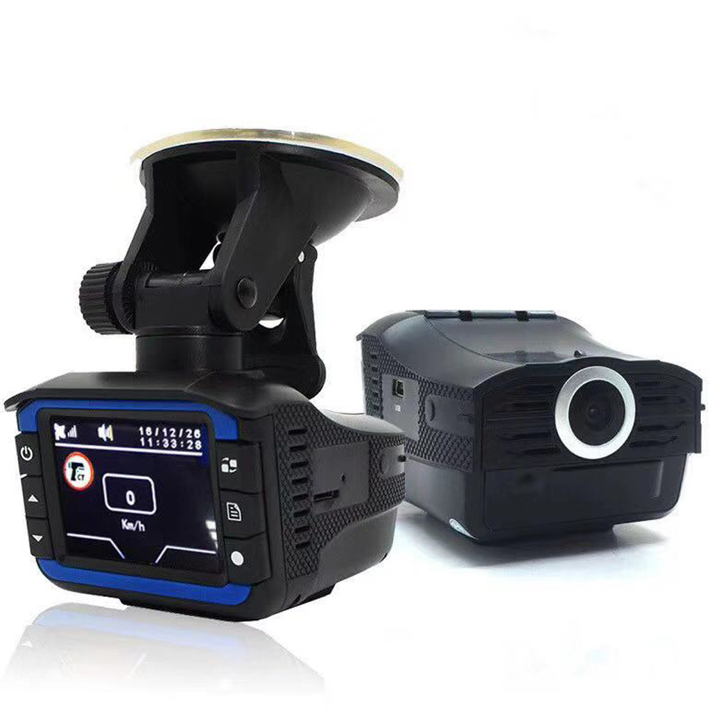 Car-Dvr-Detector-Camera Dash-Cam Video-Recorder NEW 720P Grabadora HD 1 2-In-1 140-Degree
