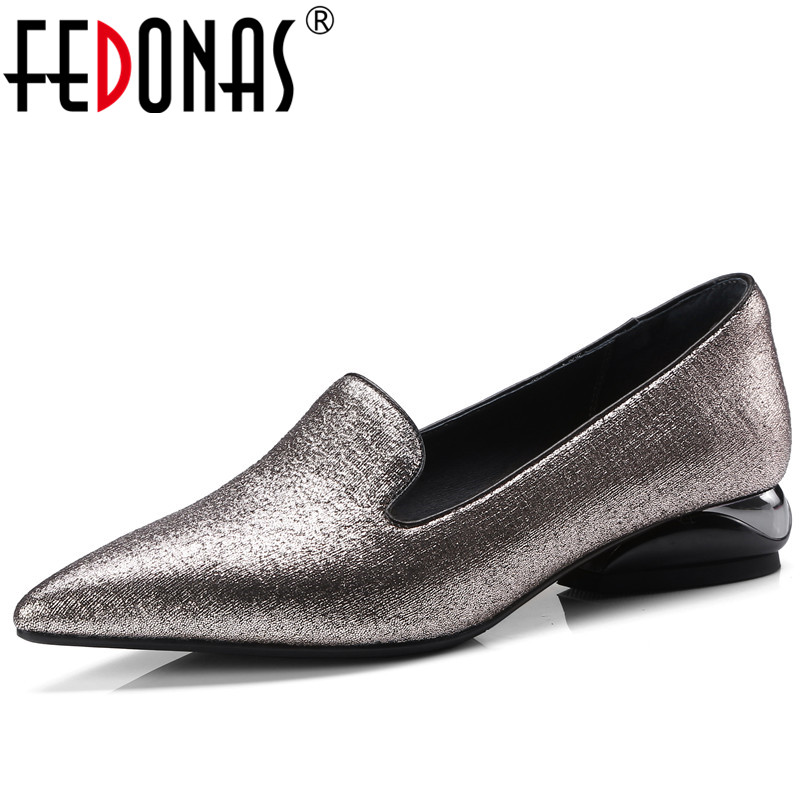 FEDONAS 2018 Spring Summer New Women Shoes Basic Style Fashion High Heels Pointed Toe Shallow Footwear Women Pumps Sexy Shoes gogc 2018 new floral denim slipony women breathable shallow shoes footwear flat shoes women fashion sneakers women summer spring