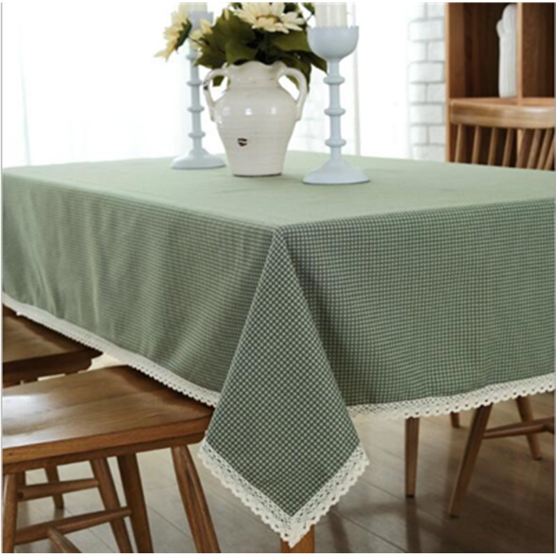 Svetanya Universal Linen Solid Color Table Cover Dining Coffee Tea Tablecloths Pillowcase