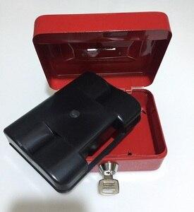Image 4 - Chiave Mini Piccola Cassetta di Sicurezza In Acciaio Contenuti Negozio di Scatole di Carta Piggy Bank Carta Documento Sicurezza
