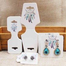25pcs/lot *4shape 100pcs Catch Dream Design Paperboard Plate Flower Bird Style Earring Necklace Bracelet Cards High-quality Card