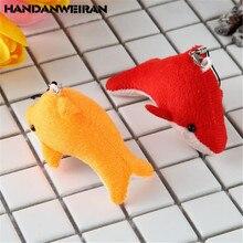 HANDANWEIRAN 2PCS Mini Ocean Dolphin Plush Toy Pendant Creative Cute Wedding Throwing Toys Doll Company Event Gift 8CM