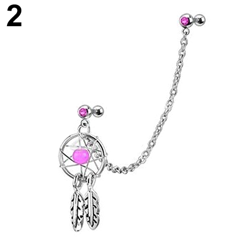 Supreme Fashion Girl s Body Jewelry Dream Catcher Star Helix Tragus Chain Nose Ear Cartilage Stud.jpg 640x640 - Supreme Fashion Girl's Body Jewelry Dream Catcher Star Helix Tragus Chain Nose Ear Cartilage Stud Earring Lips 64T6