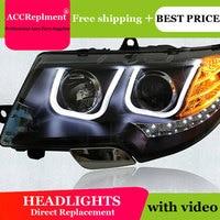 Car Styling LED Head Lamp for Skoda Superb headlights 2009 2013 Superb drl Automobile H7 hid Bi Xenon Lens angel eyes low beam