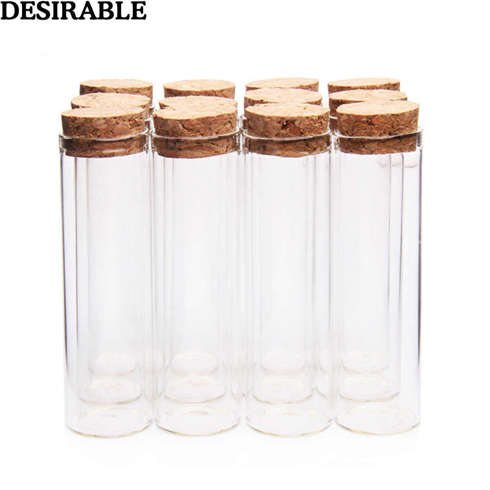 5pcs/set 50ml Clear Glass Bottles Vials Jars with Cork Stopper Sub-bottle Storage Jars test tube DIY Wedding Home Decor gifts