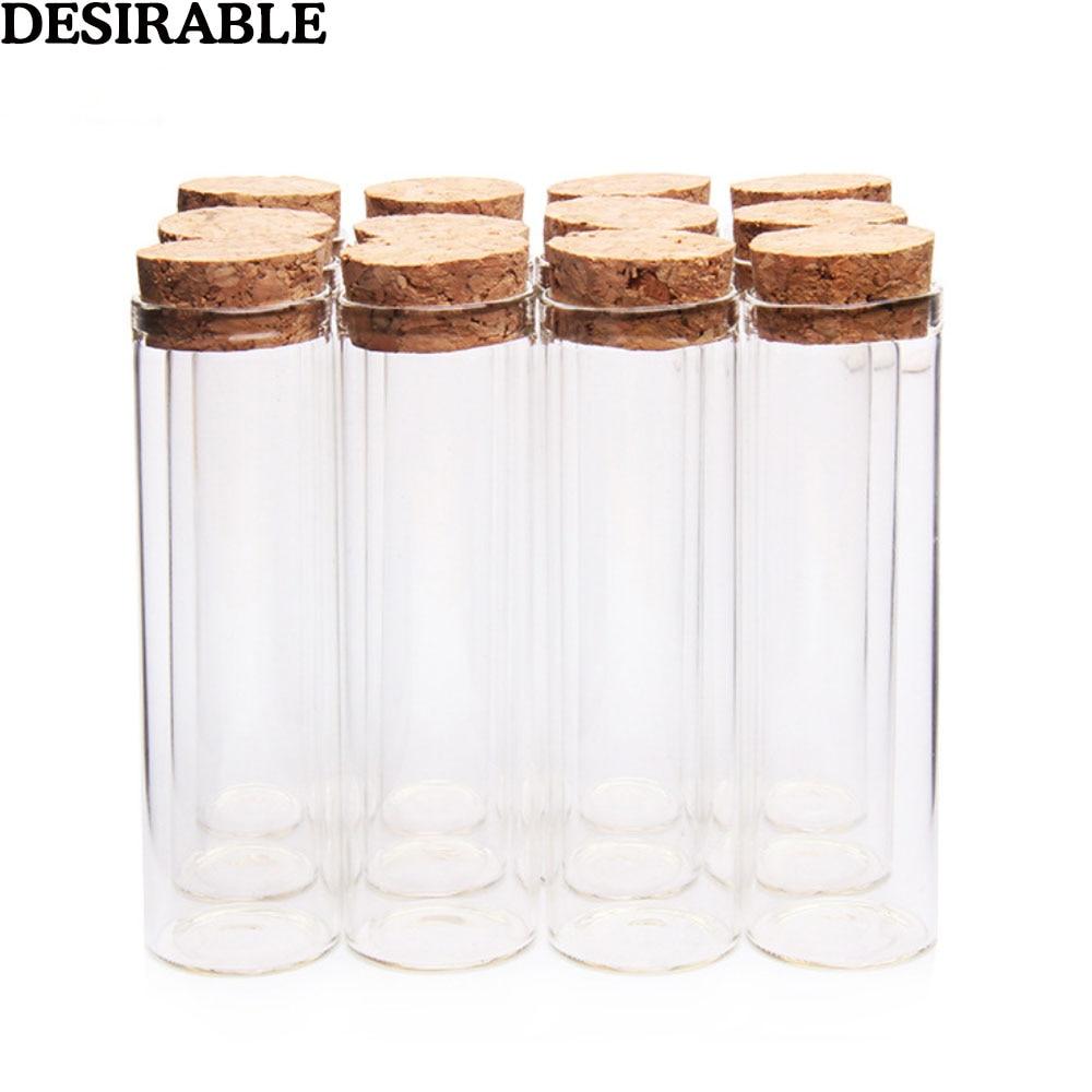 5pcs/set 50ml Clear Glass Bottles Vials Jars with Cork Stopper Sub-bottle Storage Jars test tube DIY Wedding Home Decor gifts