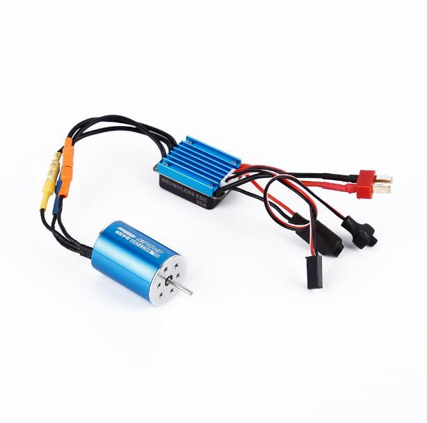 цена на Free Shipping BL MOTOR 2435 4POLES 4800KV Brushless motor+Sensorless brushless ESC 25A speed controller for 1/16 RC Car model