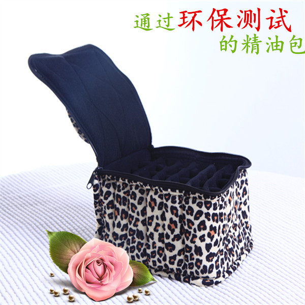 """30bottle Essential Oil Carrying Case Essential Oils Bag for Traveling Sturdy Double Zipper Contain 5ml,10ml,15ml Bottles 4""""H"""