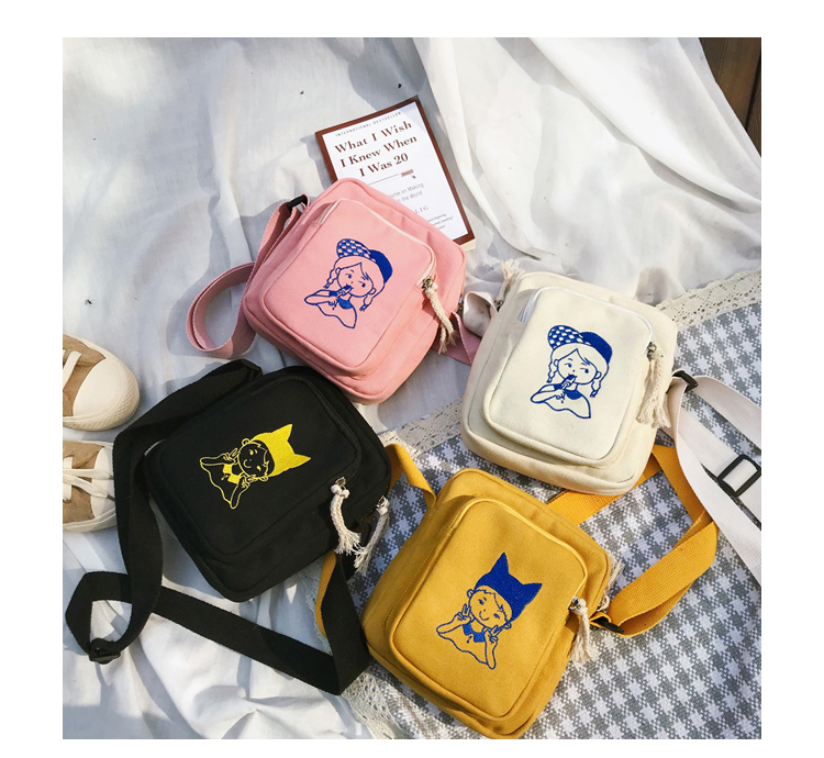 Menghuo Canvas Shoulder Bags for Girls Cartoon Printing Totes Small Flap Casual Messenger Bag Handbag Crossbody Bag for Women_34_14